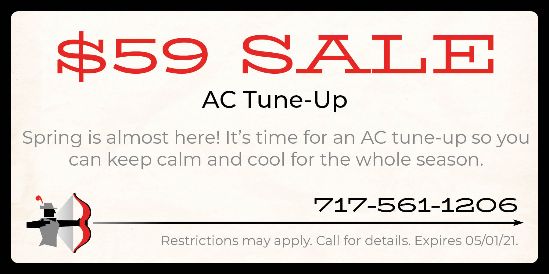 $59 AC tune up special.